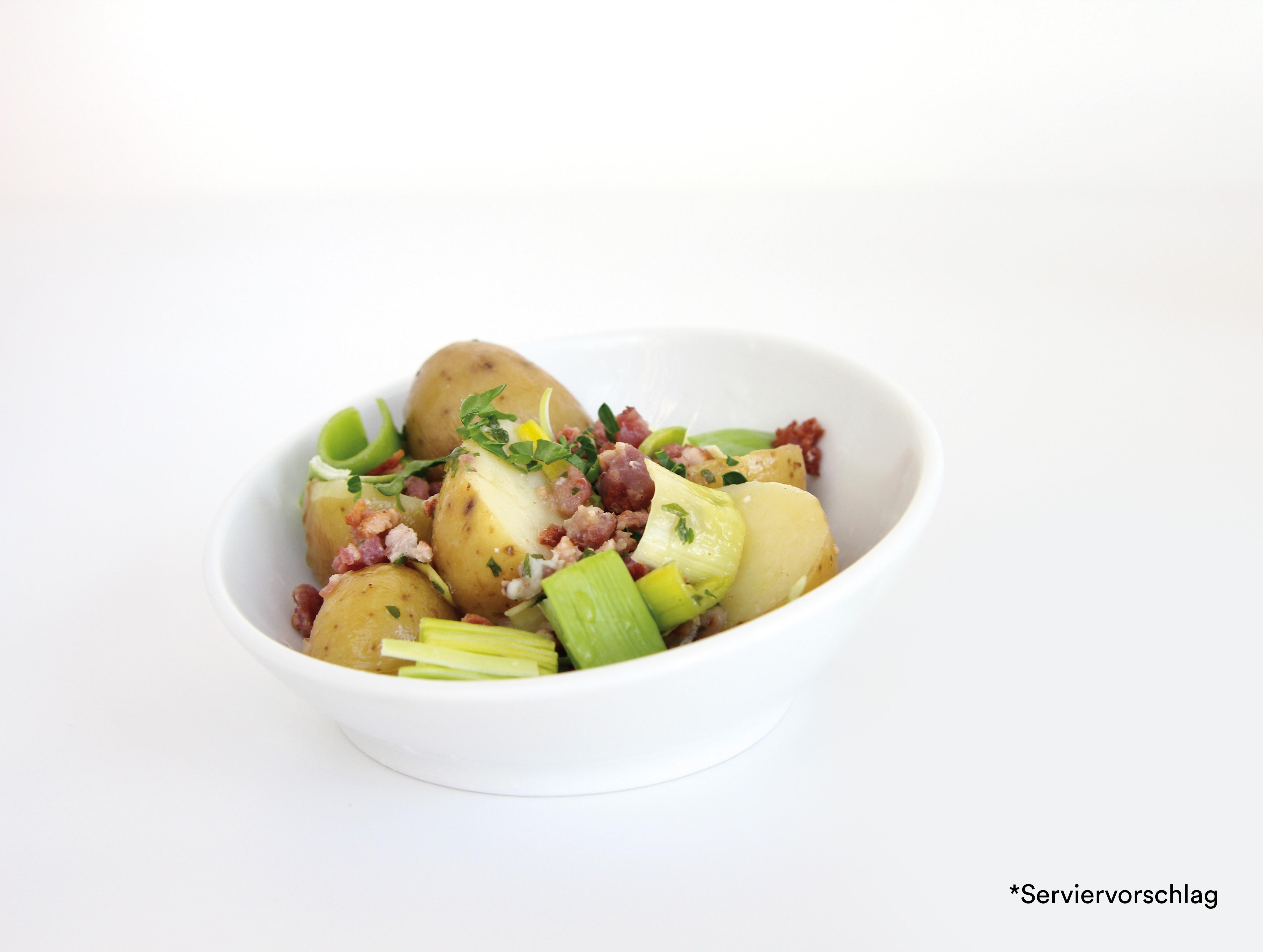 Gourmet Kartoffelsalat mit Poree und Speck