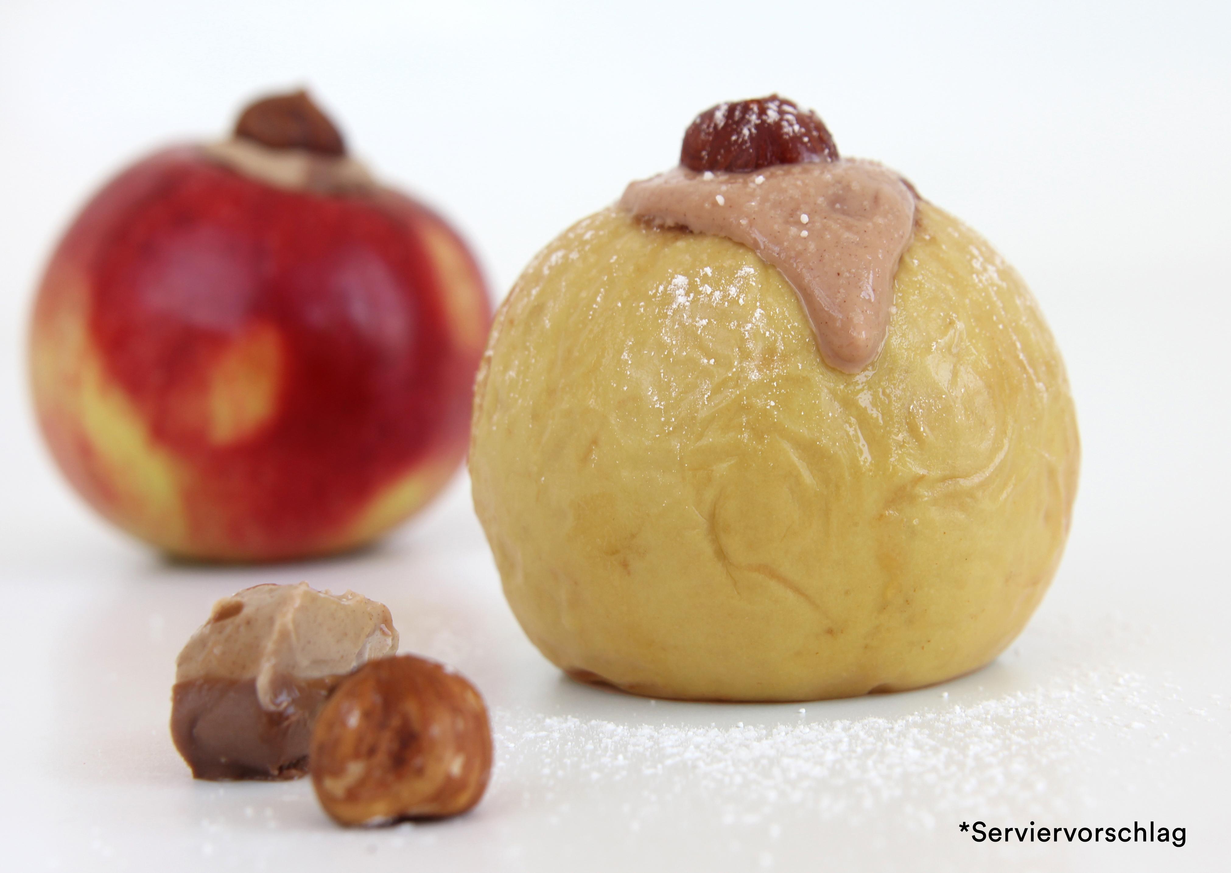 Gourmet Bratapfel klein mit Nougatfüllung