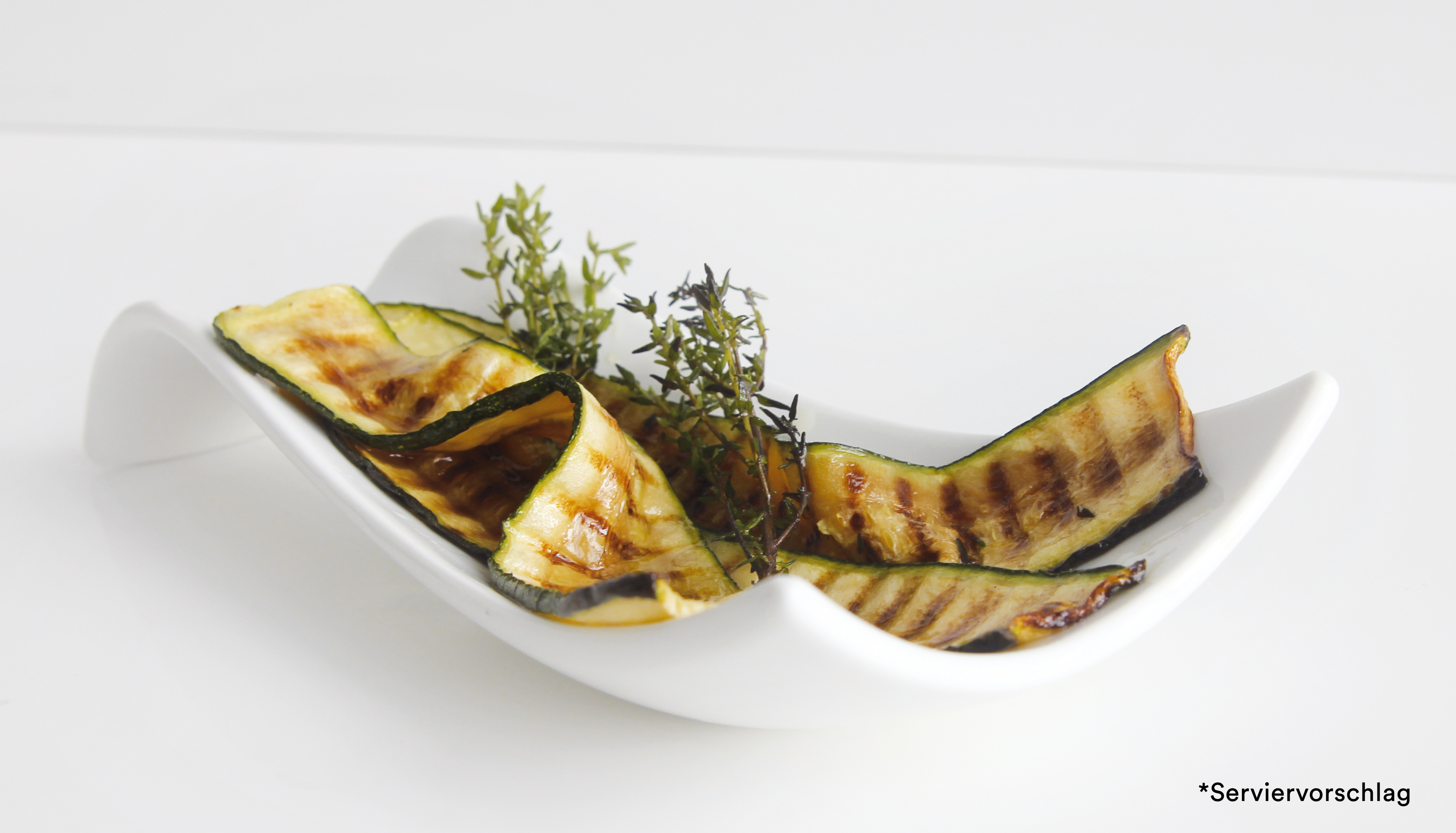 Gourmet gegrillte Zucchini