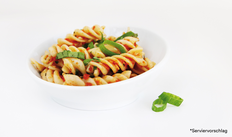 Gourmet Nudelsalat mit Spinat